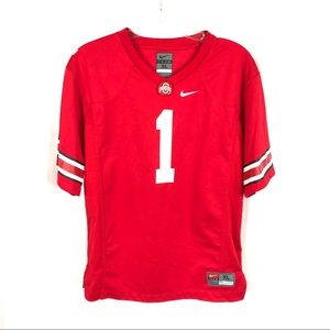 Nike Ohio state football jersey short sleeve red